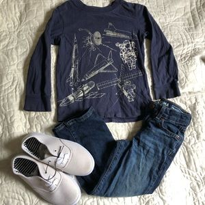 Boys Sz 5 Outfit Sonoma Jeans, NWT shoes &…